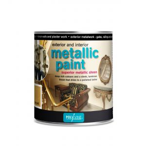 250ml Polyvine Acrylic Metallic Paint