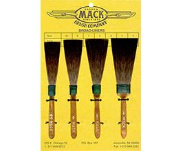 """MACK"" Squirrel Hair Broadliners"