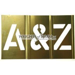 76mm Interlocking Stencils A-Z