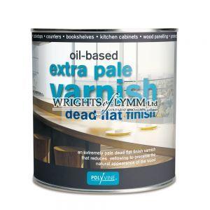 1 litre Extra Pale Dead Flat Varnish - Oilbased
