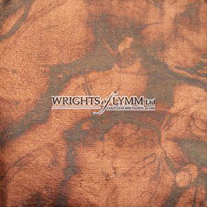 Coloured Silver Loose Marbled Leaf - Brown