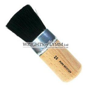 25mm Black Bristle Stencil Brush