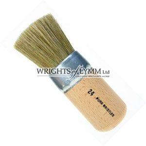 25mm White Bristle Stencil Brush