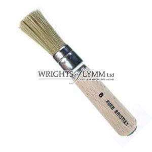 12mm White Bristle Stencil Brush