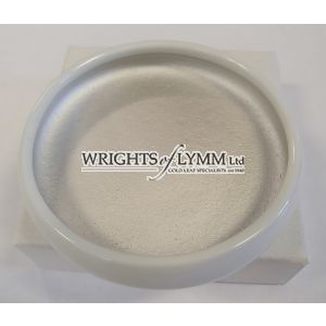 Silver 0.4 gram  Shell Gold in ceramic Dish