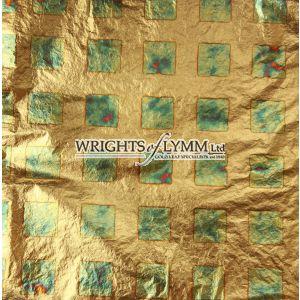 Blue/Green Squares Transfer Leaf, Book of 25 leaves