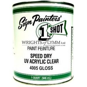 946ml One Shot Speed Dry UV Gloss Acrylic Clear