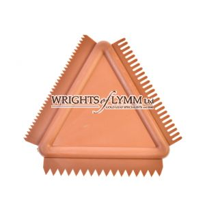 No.103 Triangular Rubber toothed Comb