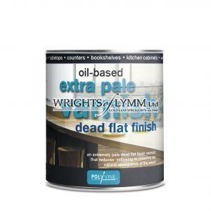 500ml Extra Pale Dead Flat Varnish - Oilbased