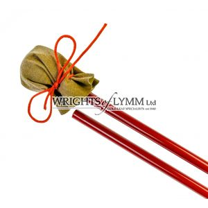 2 Piece Metal Mahl Stick with ball and leather