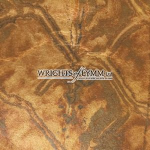 Coloured Silver Loose Marbled Leaf - Brown Gold