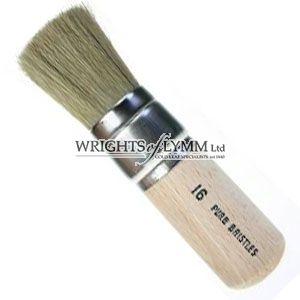 38mm White Bristle Stencil Brush