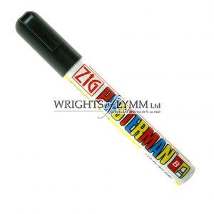 Black 6mm Zig Marker