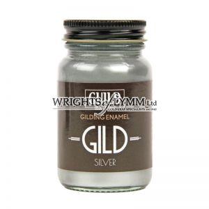 Guild Materials GILD Gilding Enamel Paint, Silver (60ml Jar)
