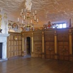 Interior of one of the castle buildings