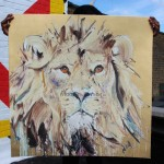 Lion II produce by Jealous Print Studios