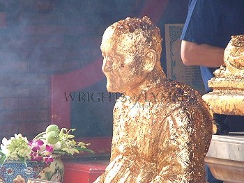 Gold Leaf Gilded Statue Thailand