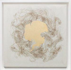 'Siege', Incense Burnt Kozuke Paper and Gold Leaf